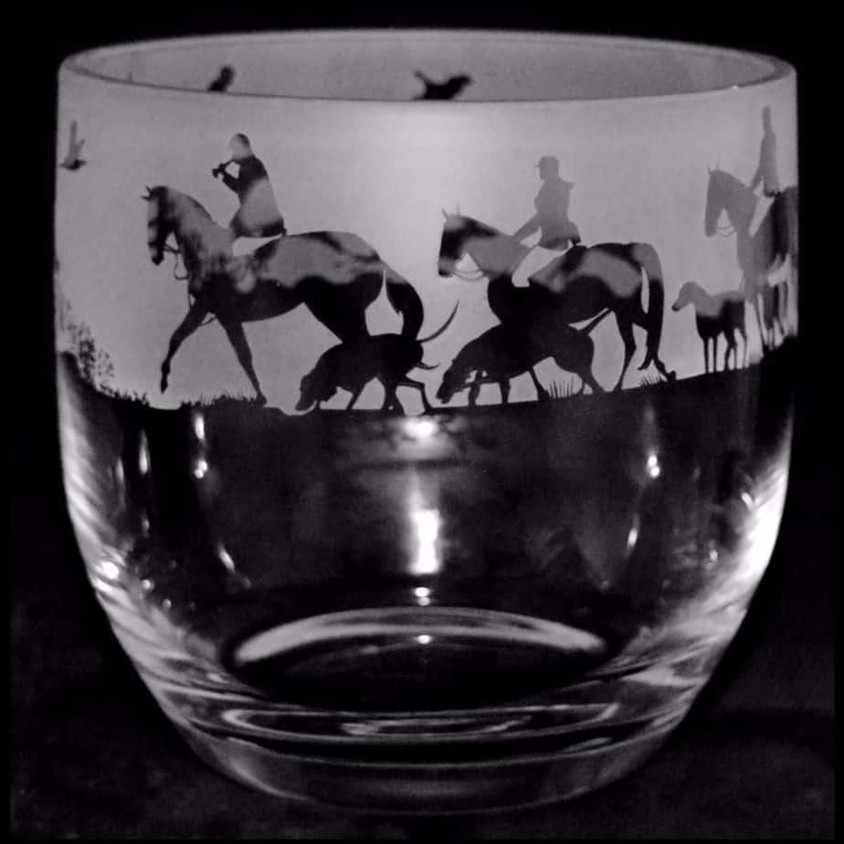 HUNTING SCENE Candle Pot