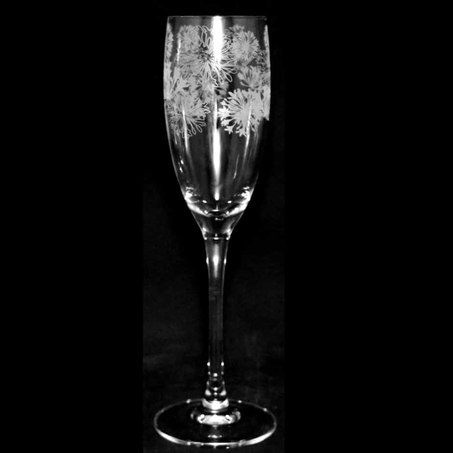 AGAPANTHUS Crystal Flute Champagne Glass 16cl