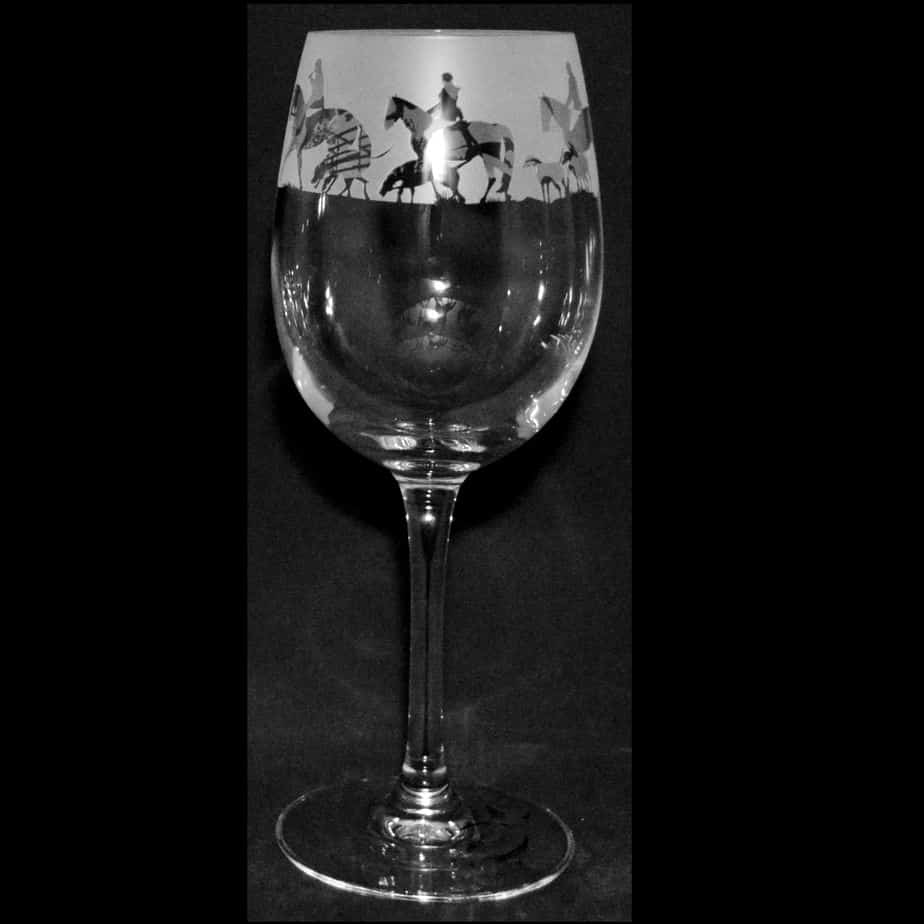 HUNTING Crystal Wine Glass 35cl