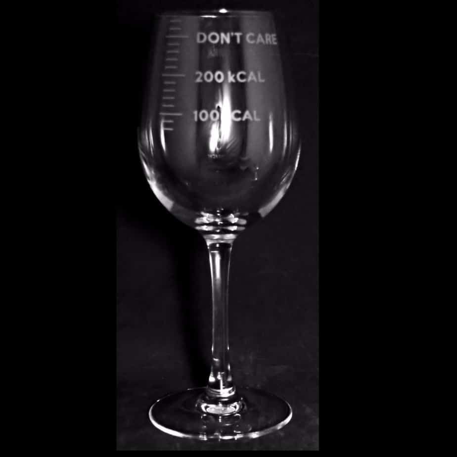 CALORIE COUNTING Crystal Wine Glass 35cl