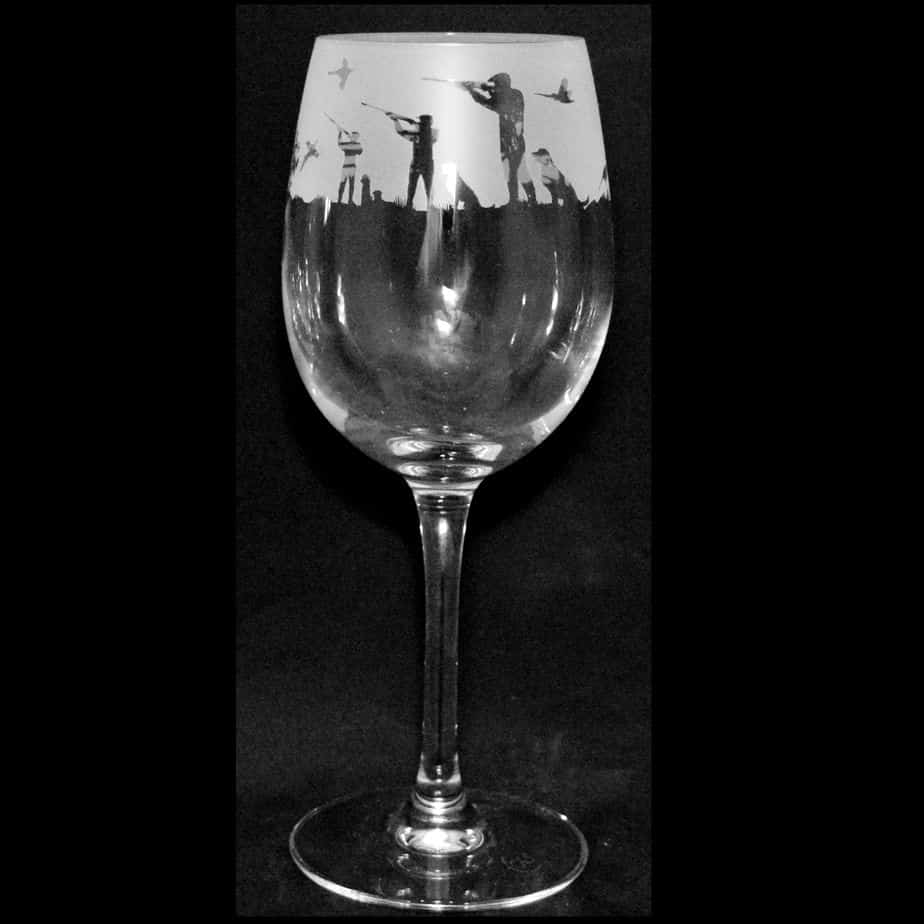 COUNTRY LIFE SHOOTING Crystal Wine Glass 35cl