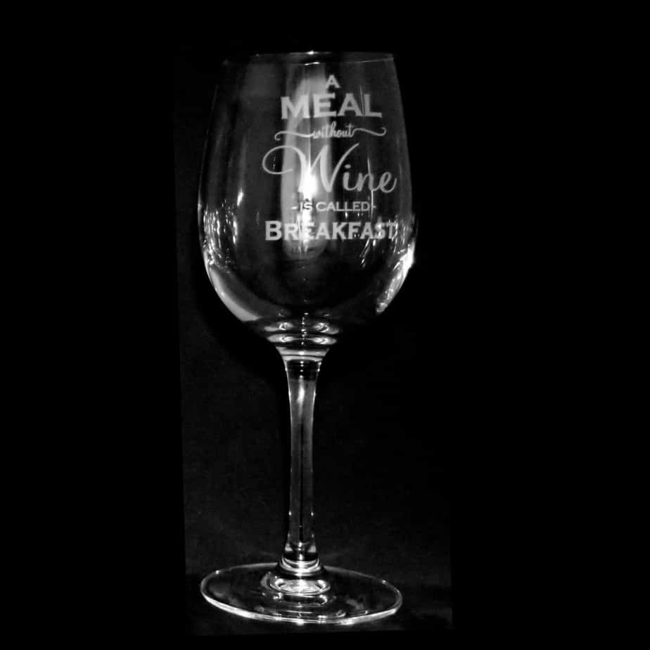 A MEAL WITHOUT WINE Crystal Wine Glass 35cl