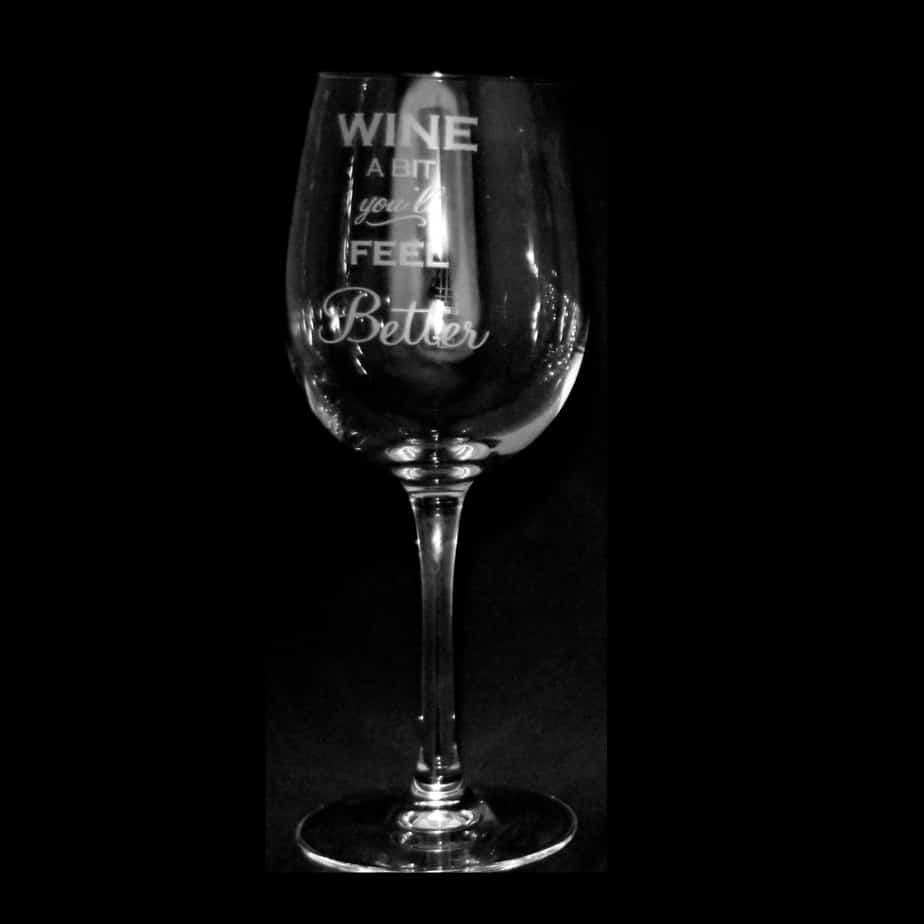 WINE A BIT Crystal Wine Glass 35cl