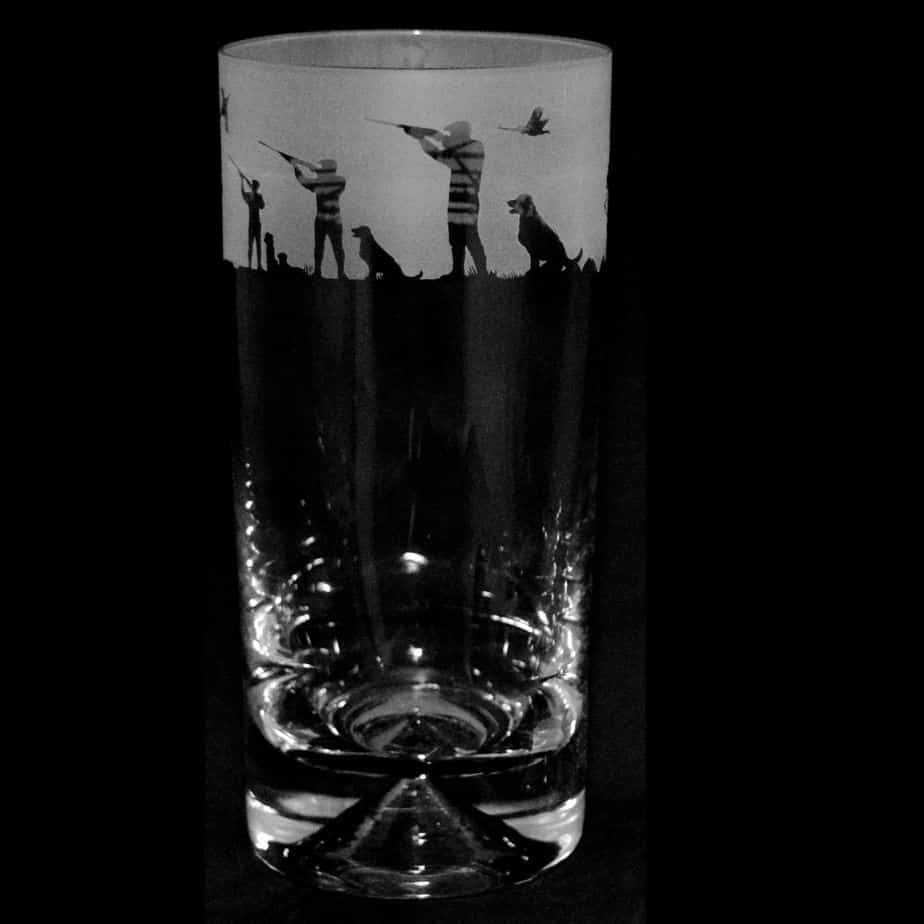 COUNTRY LIFE SHOOTING SCENE Highball Glass