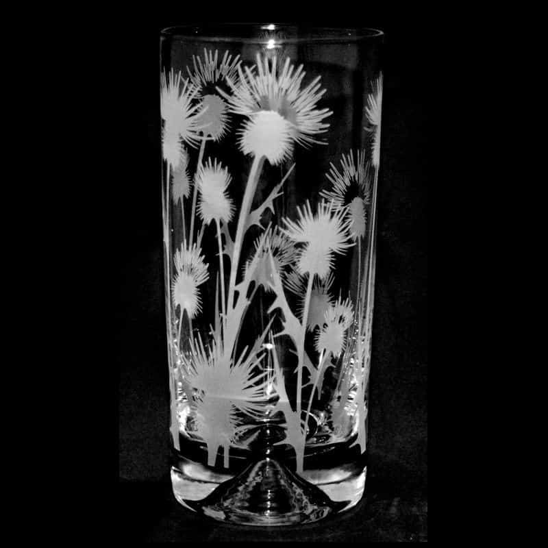 SCOTTISH THISTLE Highball Glass