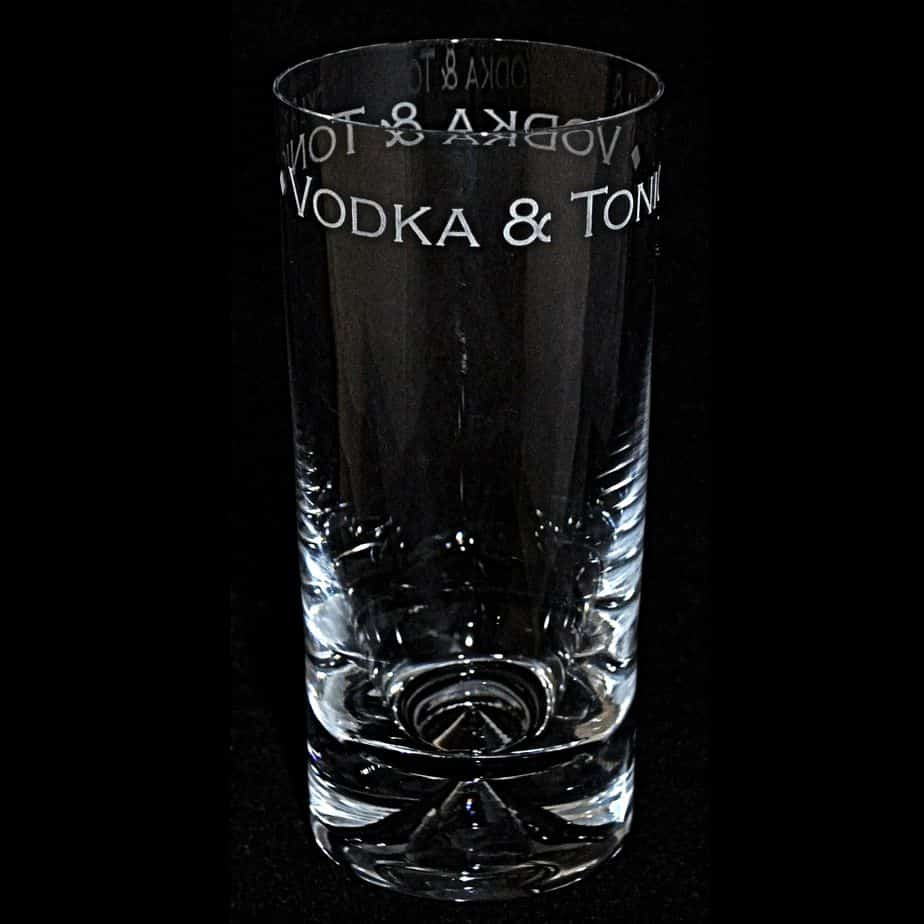 VODKA & TONIC Highball Glass