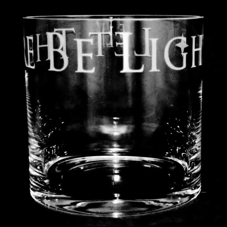 LET THERE BE LIGHT 17cm Glass Column Vase / Candleholder