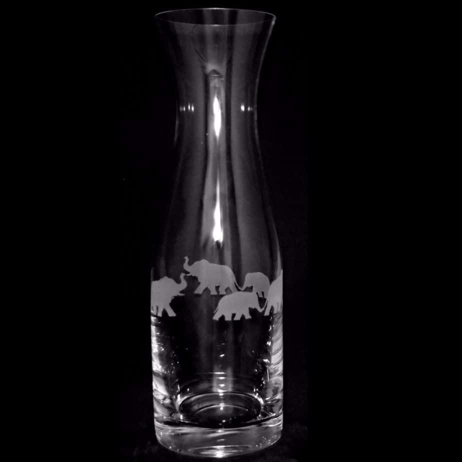 ELEPHANT 1 Litre Crystal Glass Carafe
