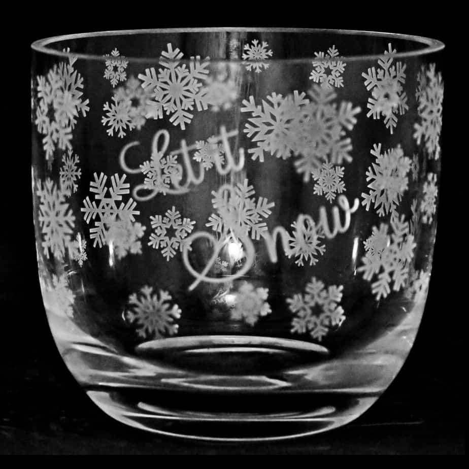 LET IT SNOW (Clear) Candle Pot