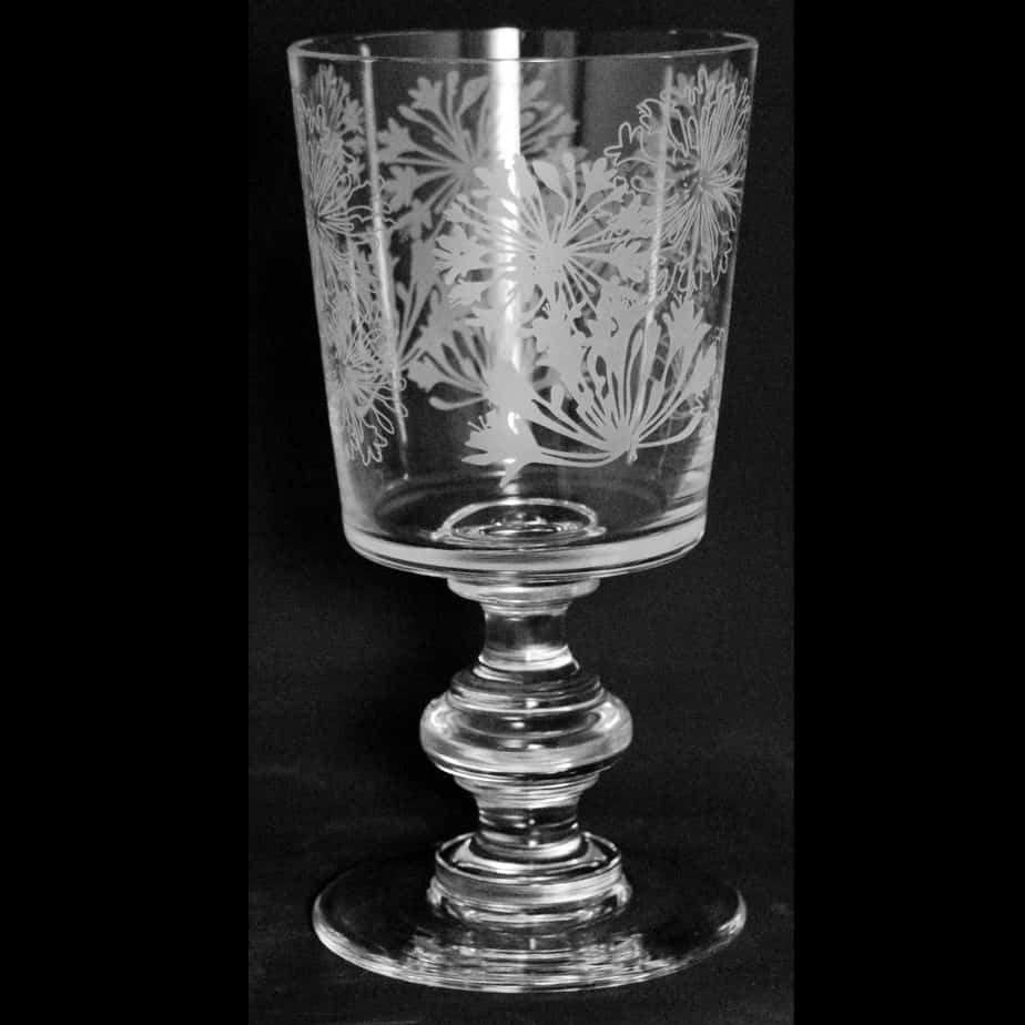 AGAPANTHUS Crystal Chalice Goblet 30cl