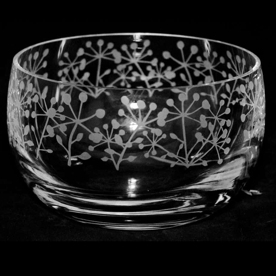 COW PARSLEY Small Crystal Glass Bowl