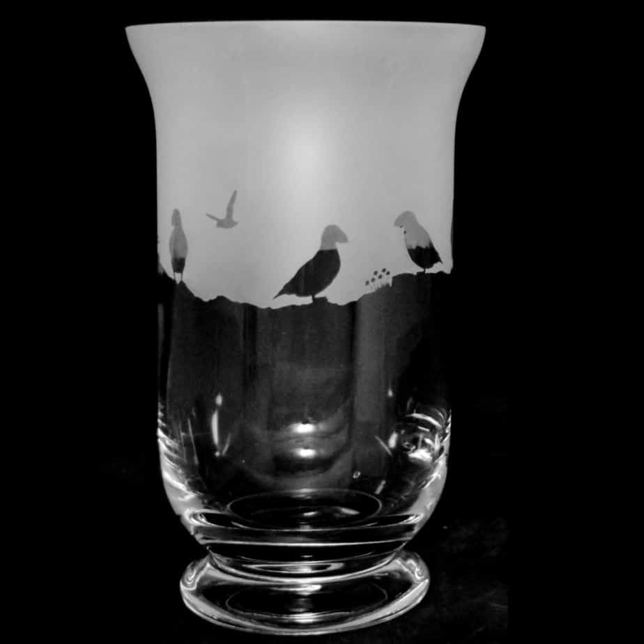 PUFFIN 23.5cm Crystal Glass Vase