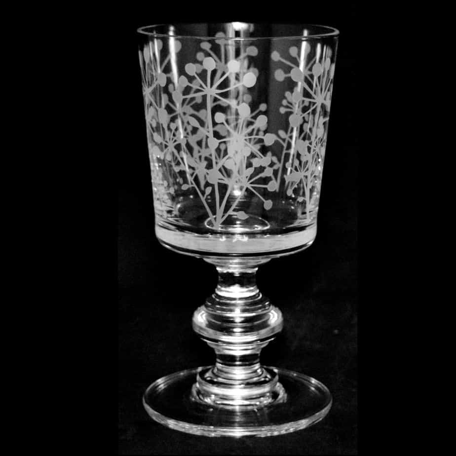 COW PARSLEY Crystal Chalice Goblet 30cl