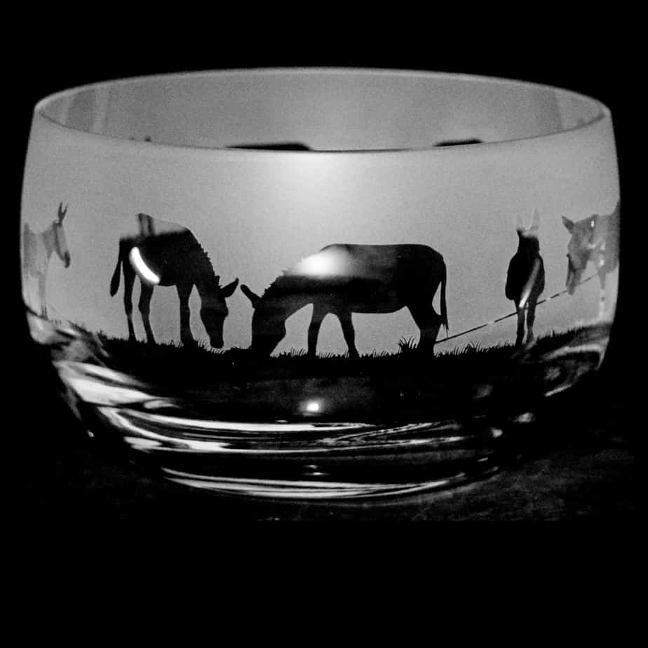 DONKEY Small Crystal Glass Bowl