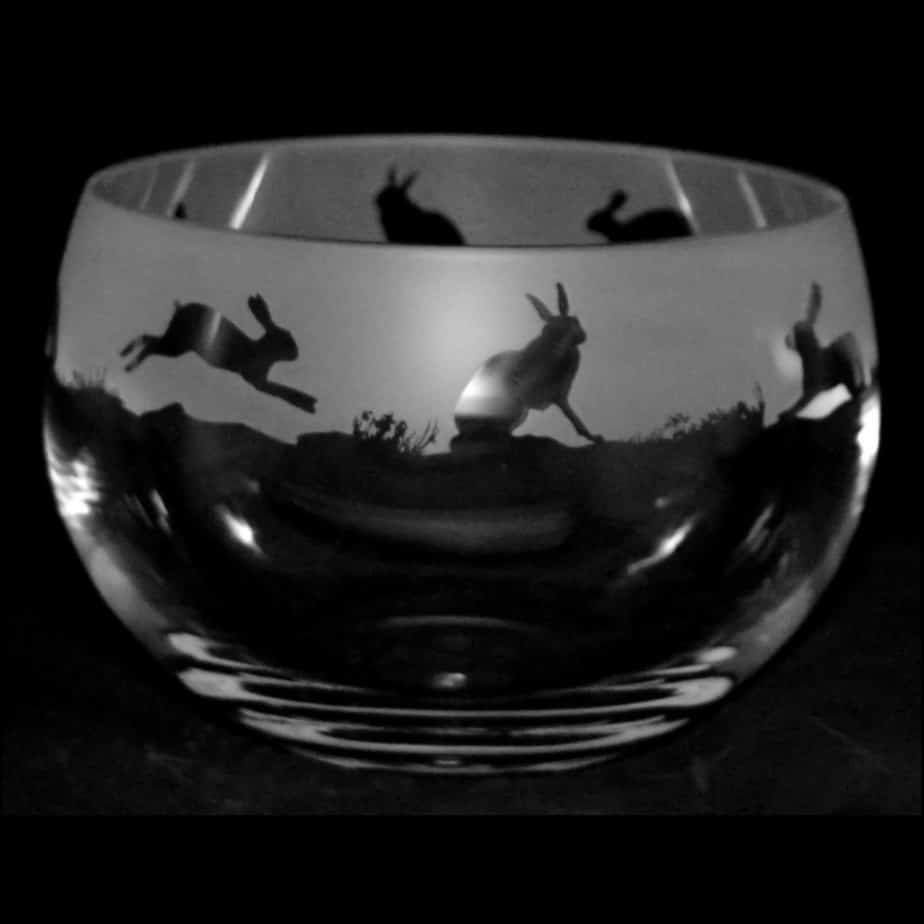 HARE Medium Crystal Glass Bowl