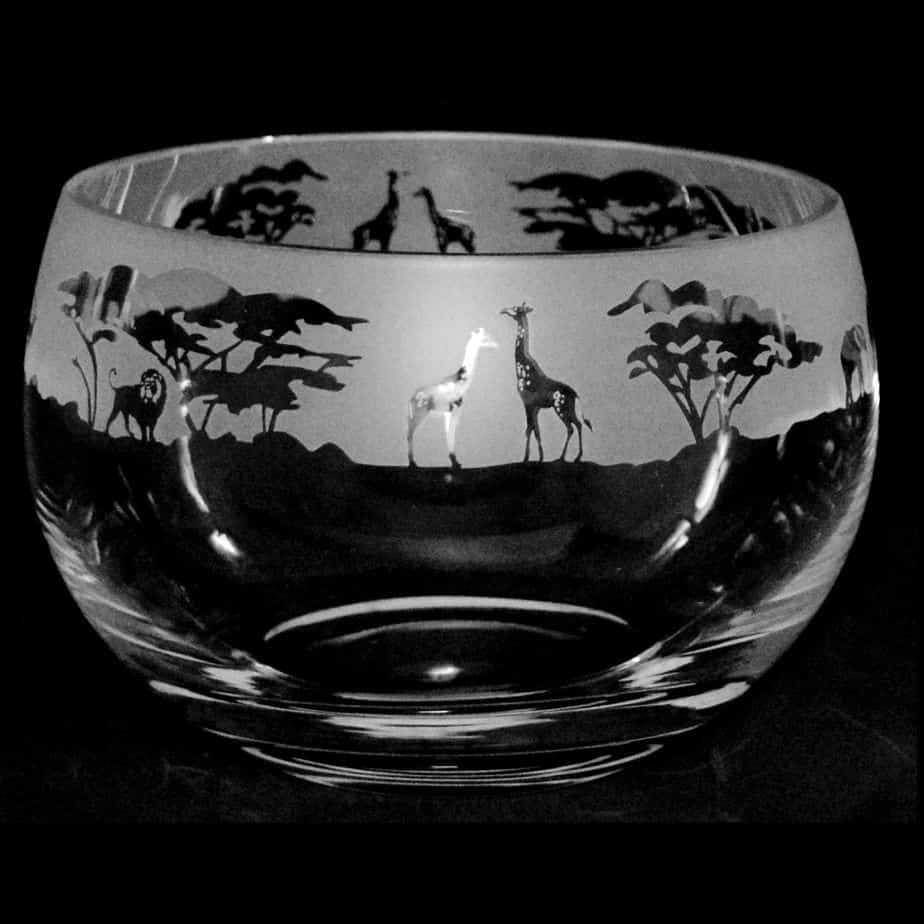 SAFARI Medium Crystal Glass Bowl