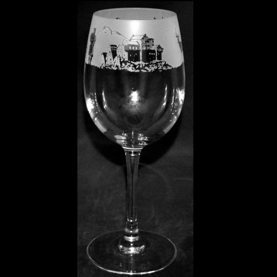 SCOTTISH SCENE Crystal Wine Glass 35cl
