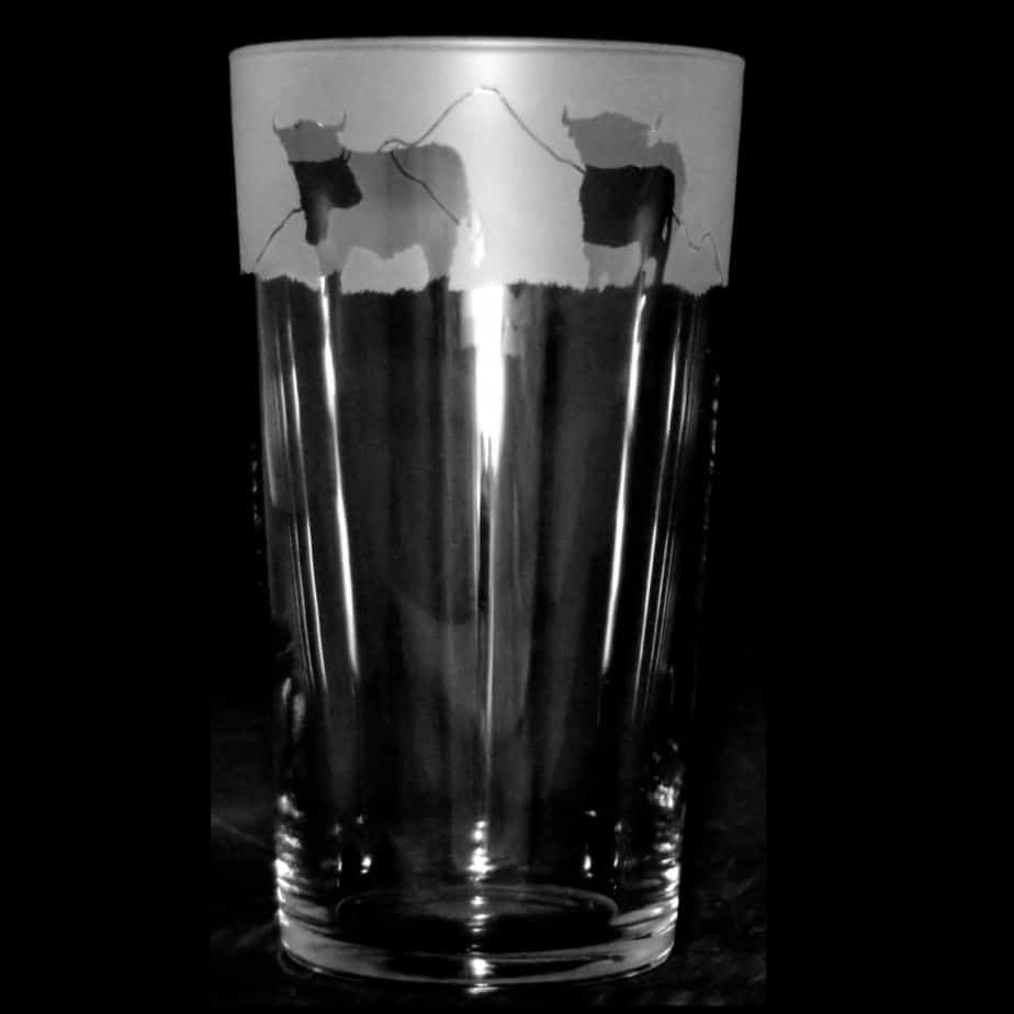 HIGHLAND COW Conical Pint Glass 57cl