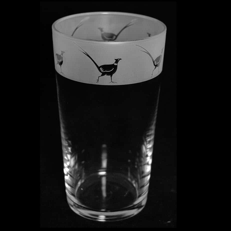 PHEASANT Conical Pint Glass 57cl