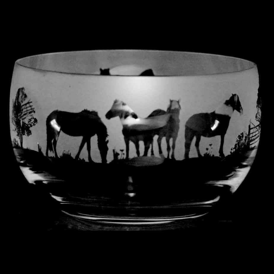 NEW FOREST PONY Small Crystal Glass Bowl