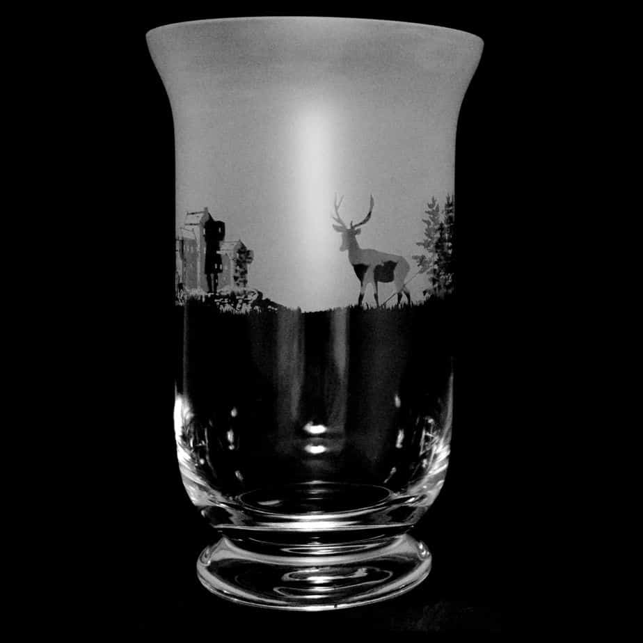 SCOTTISH SCENE 23.5cm Crystal Glass Vase