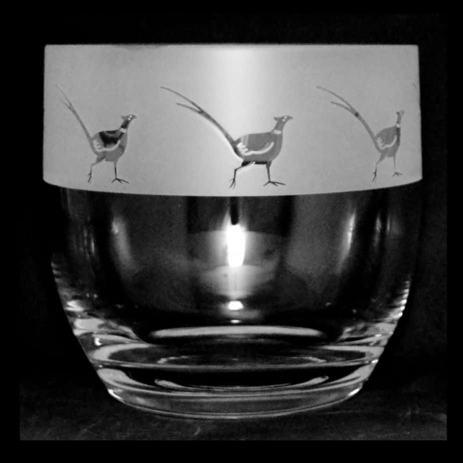 PHEASANT (FROSTED) Candle Pot