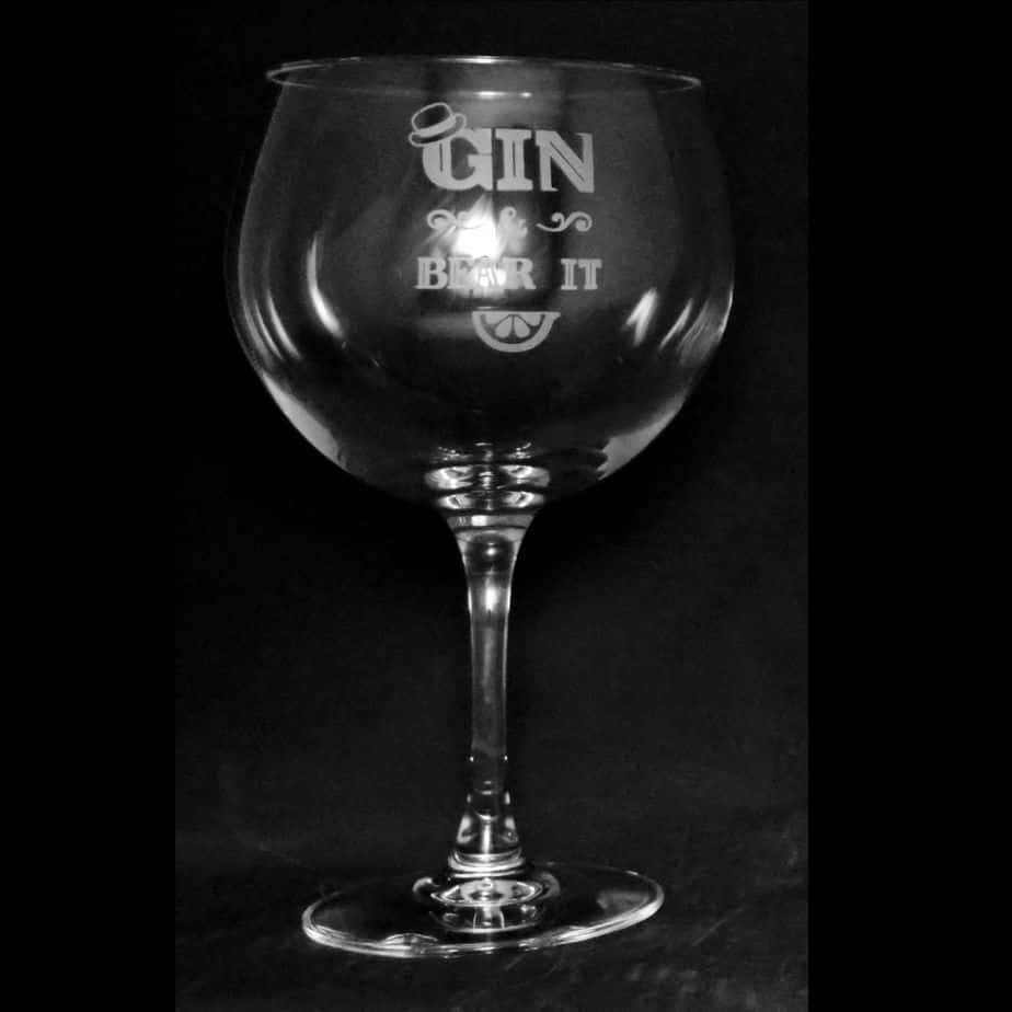 GIN & BEAR IT 70cl Gin Balloon Glass