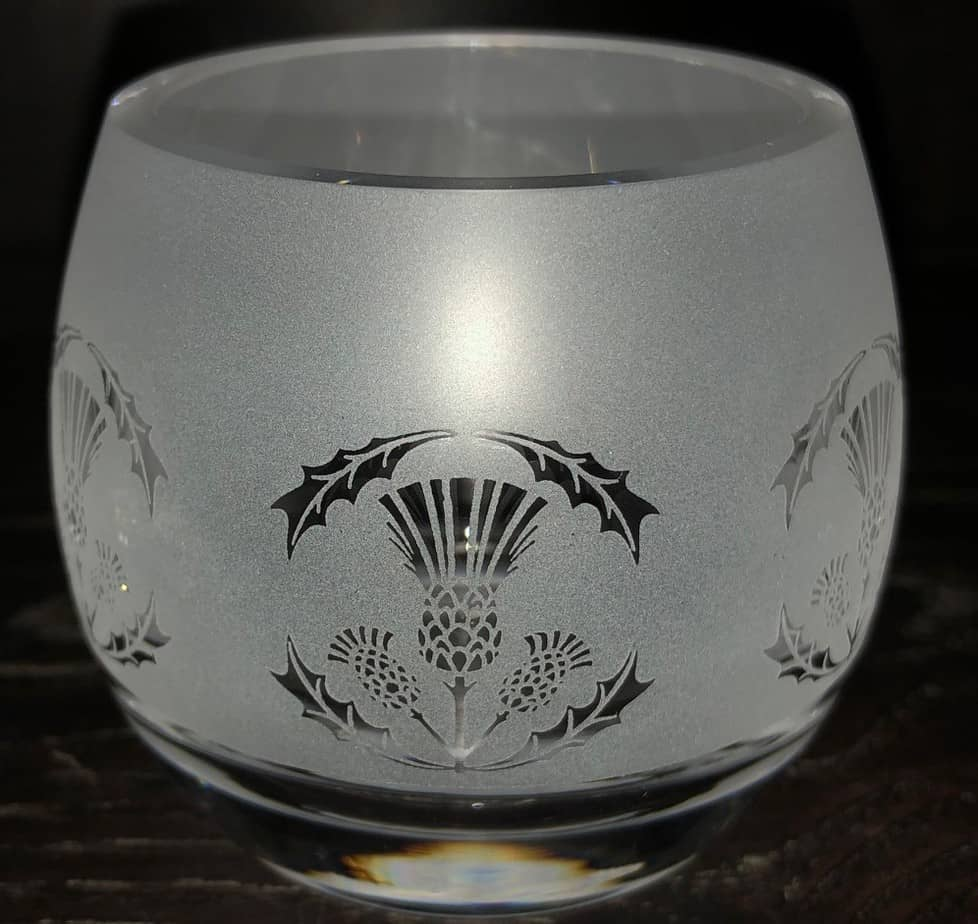 THISTLE Crystal Glass Tea Light Holder