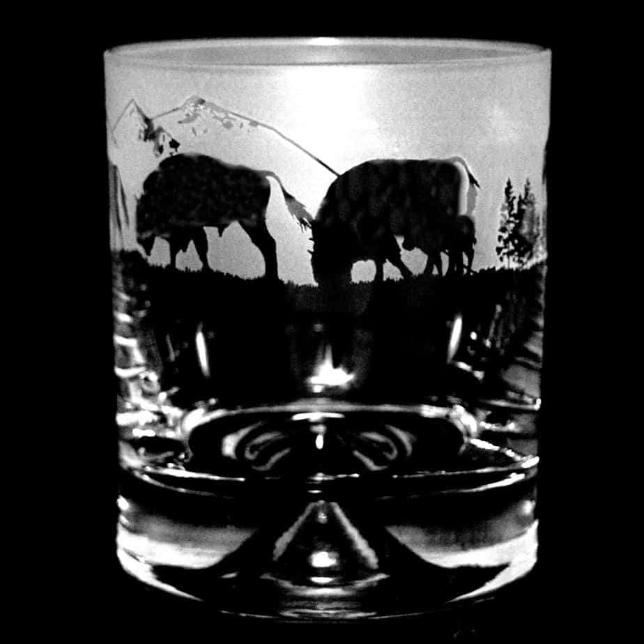 BUFFALO (BISON) Glass Whisky Tumbler