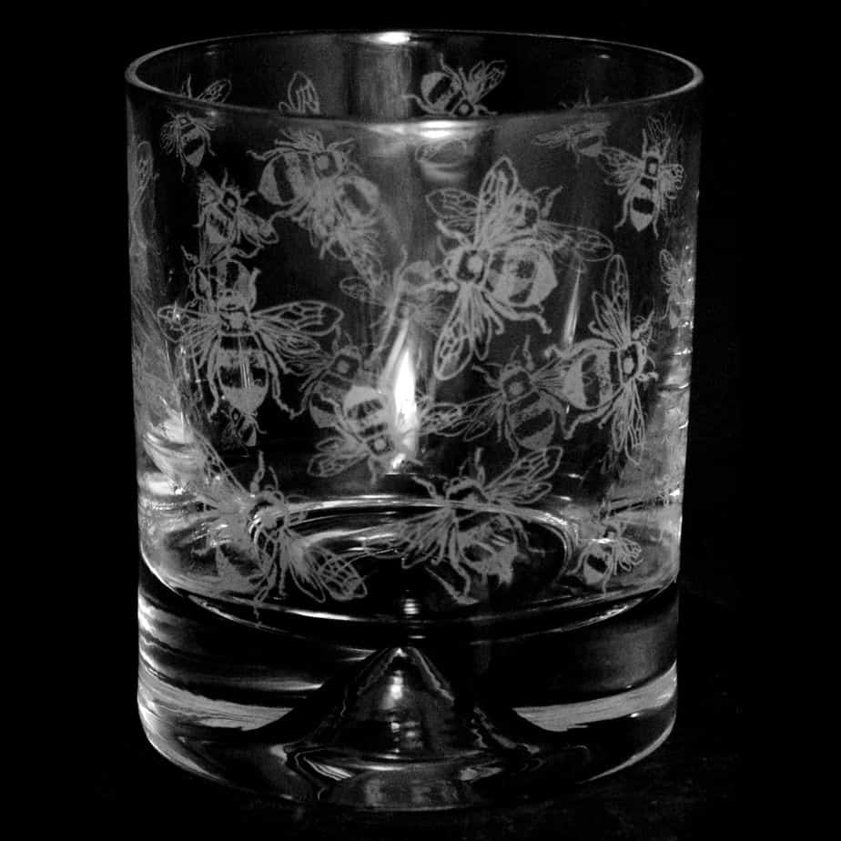 ALL OVER HONEY BEE Whisky Tumbler