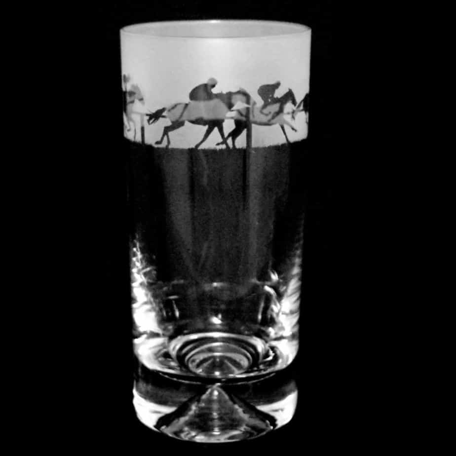 AT THE RACES Highball Glass
