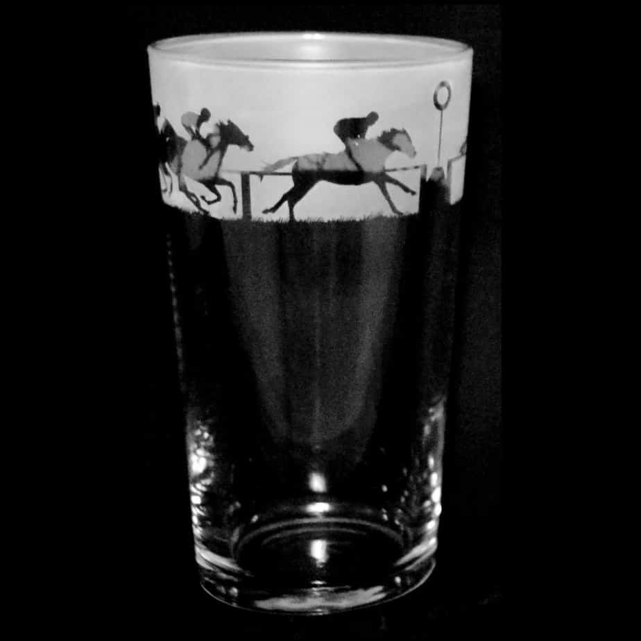 AT THE RACES Conical Pint Glass 57cl