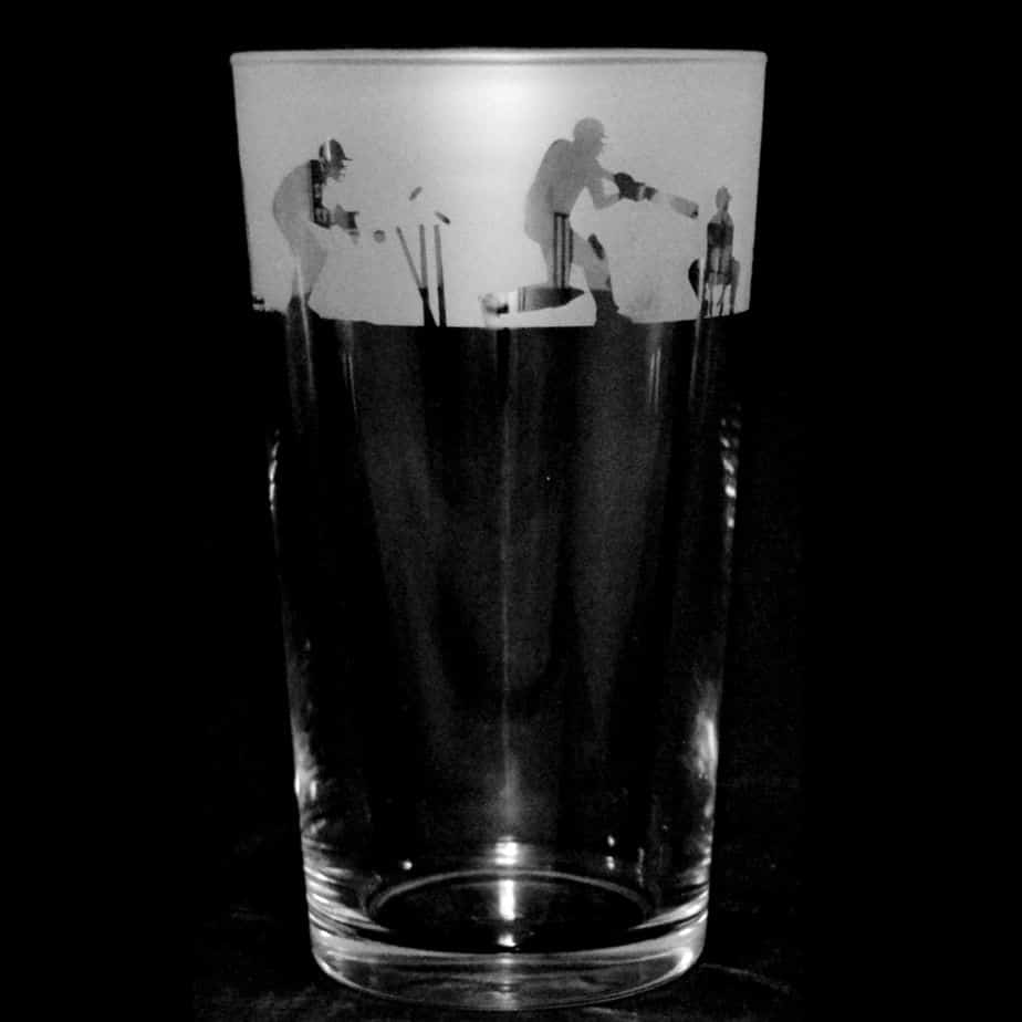 CRICKET SCENE Conical Pint Glass 57cl