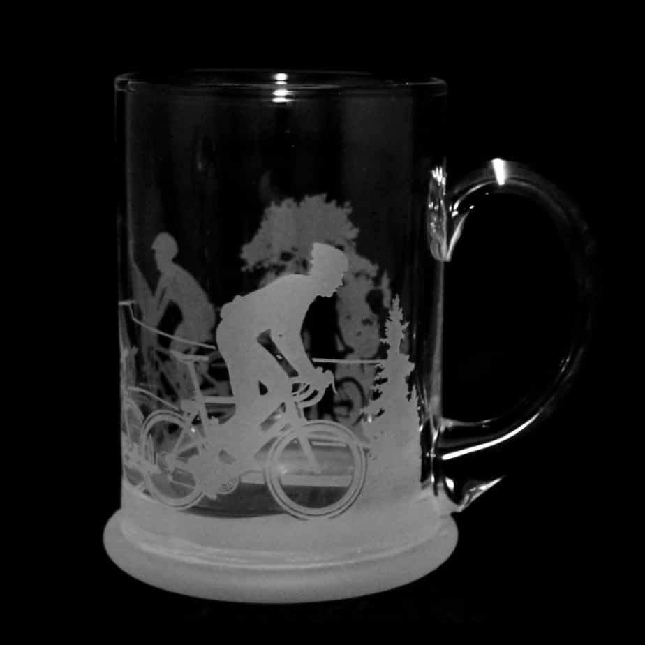 CYCLING SCENE Crystal Pint Tankard 57cl