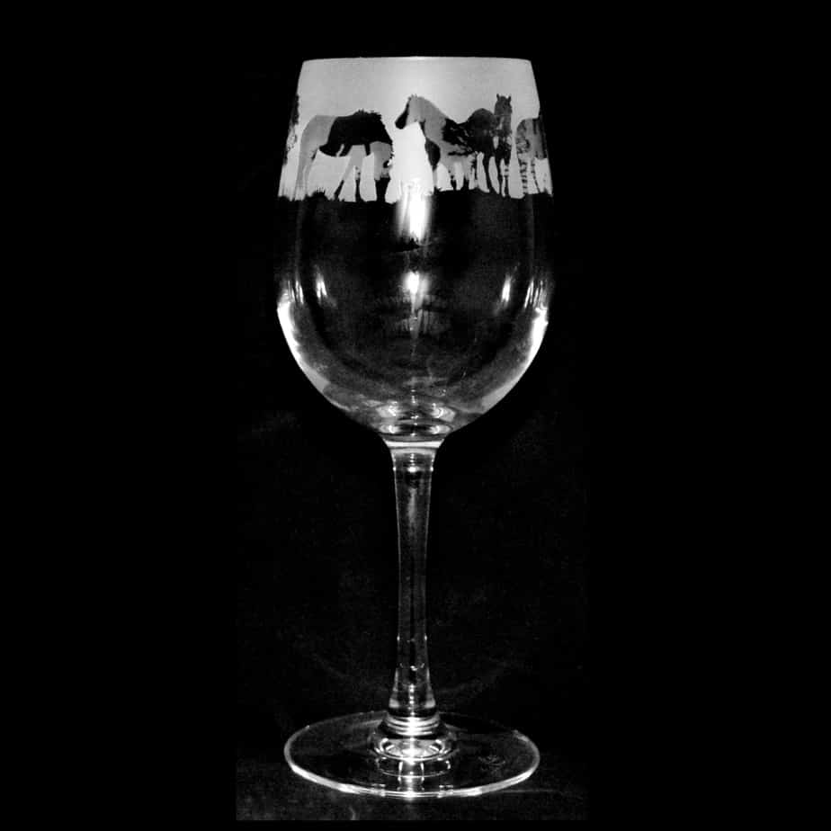 NEW FOREST PONY Crystal Wine Glass 35cl