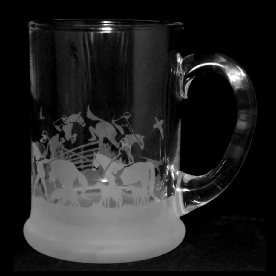 HUNTING SCENE Crystal Pint Tankard 57cl