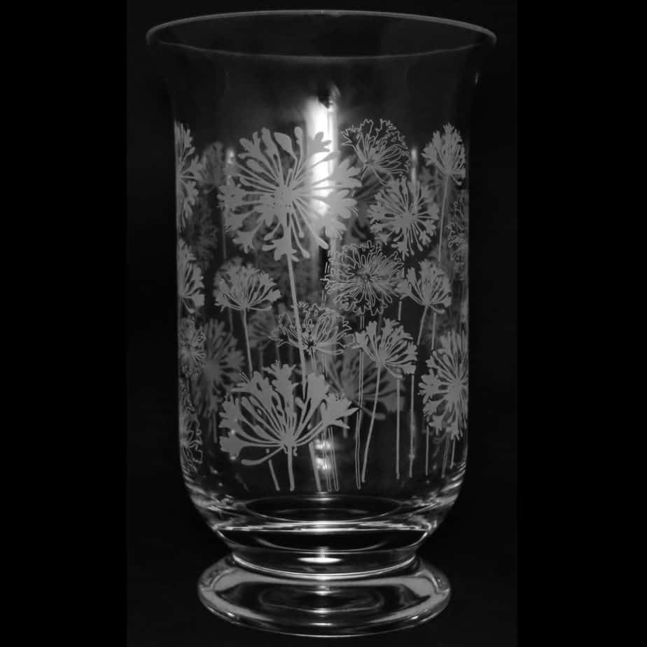 AGAPANTHUS 23.5cm Crystal Glass Vase