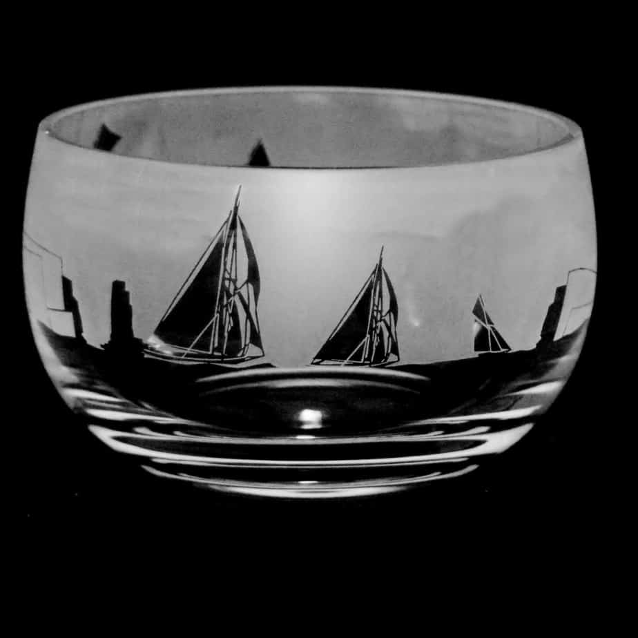 ALL AT SEA Small Crystal Glass Bowl