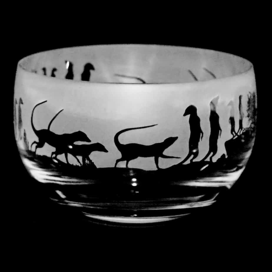 MEERKAT Small Crystal Glass Bowl