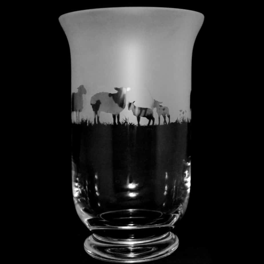 SHEEP 23.5cm Crystal Glass Vase