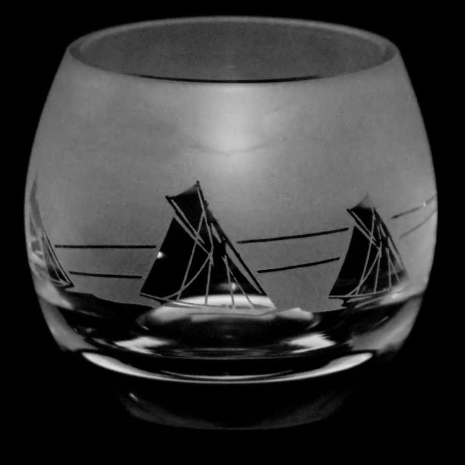 ALL AT SEA Crystal Glass Tea Light Holder