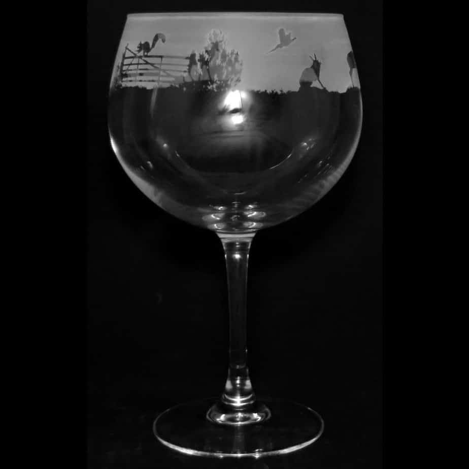 COUNTRY LIFE WOODLAND SCENE 70cl Gin Balloon Glass