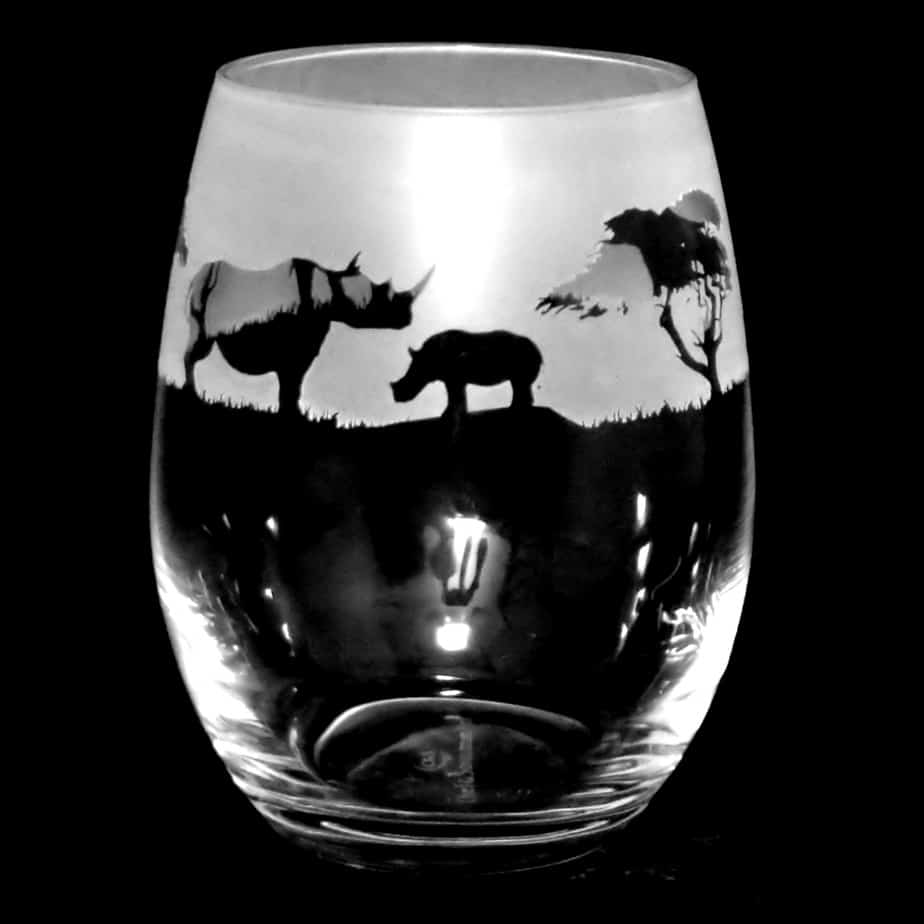 RHINO Stemless Wine/Water Glass 36cl