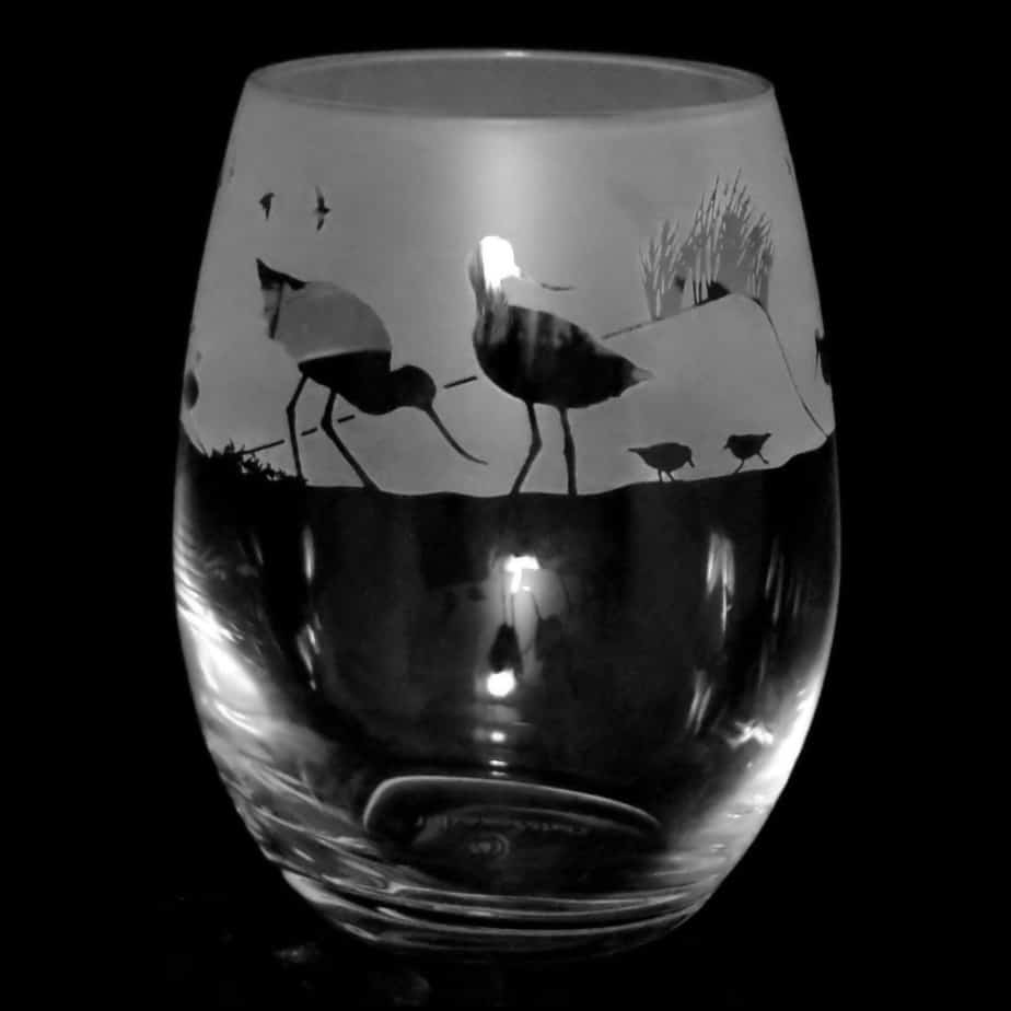 WADING BIRDS Stemless Wine / Water Glass 36cl