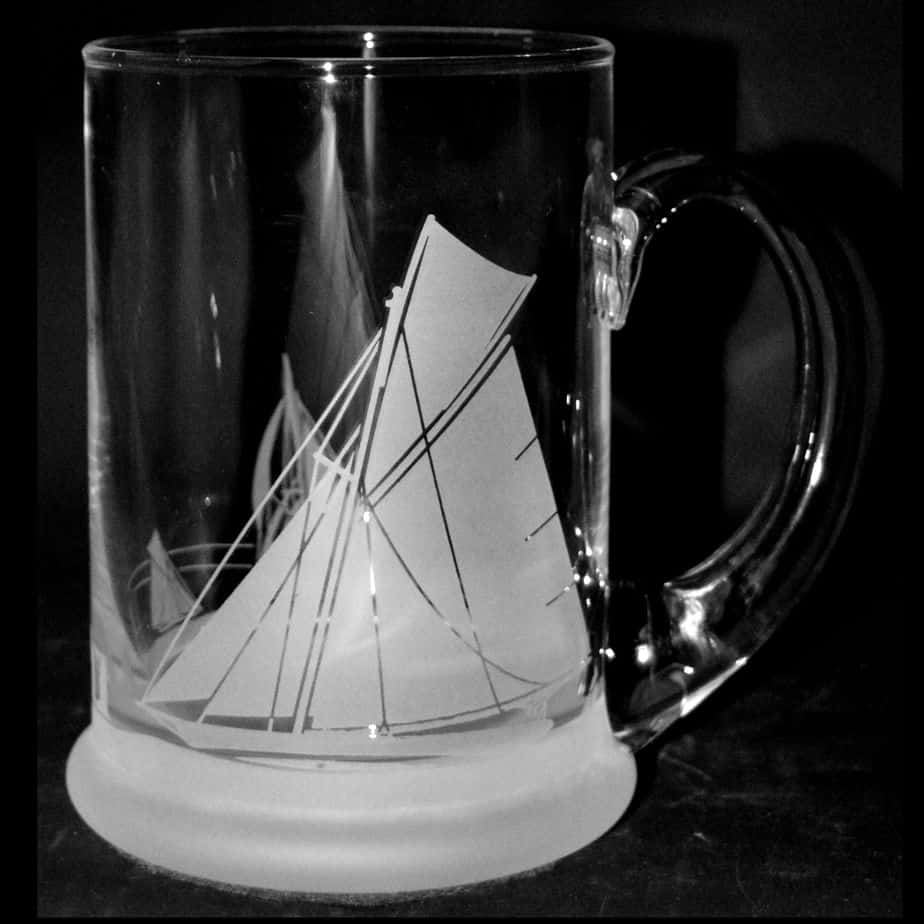 ALL AT SEA Crystal Pint Tankard 57cl