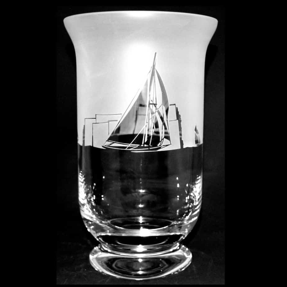 ALL AT SEA 23.5cm Crystal Glass Vase