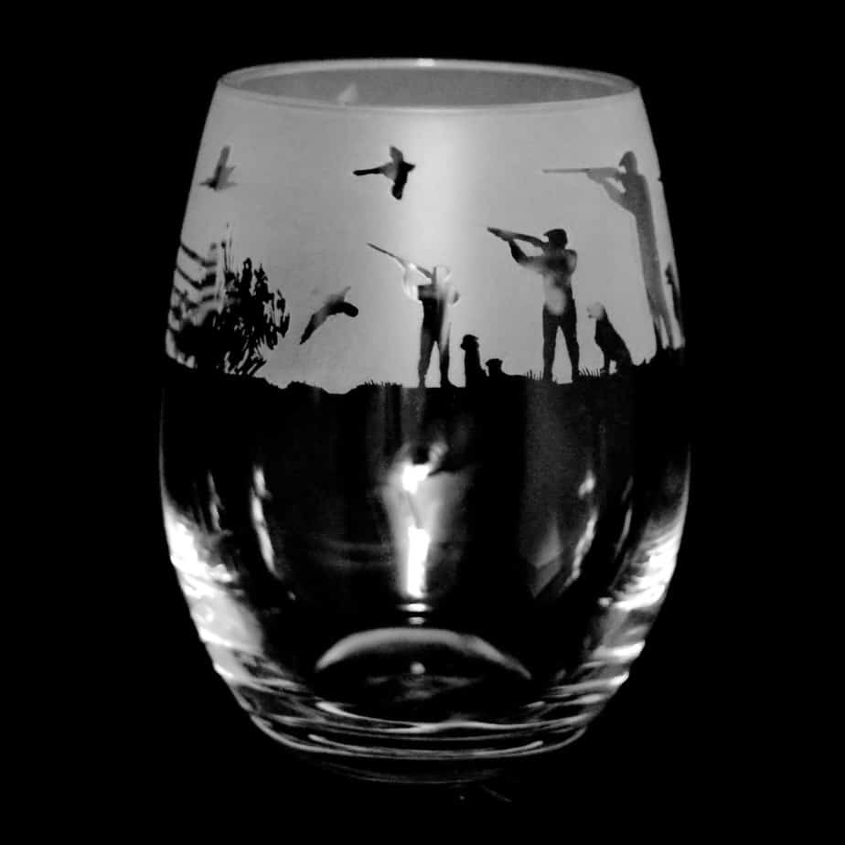 COUNTRY LIFE SHOOTING SCENE Stemless Wine/Water Glass 36cl