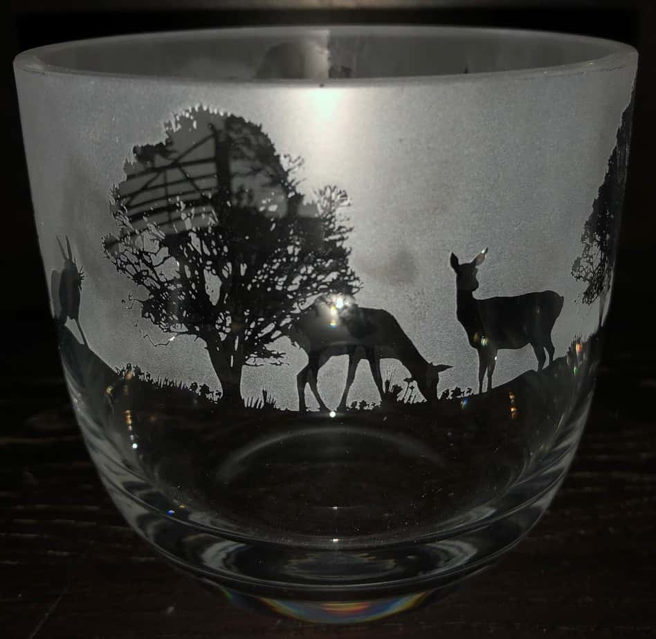 WOODLAND SCENE Candle Pot