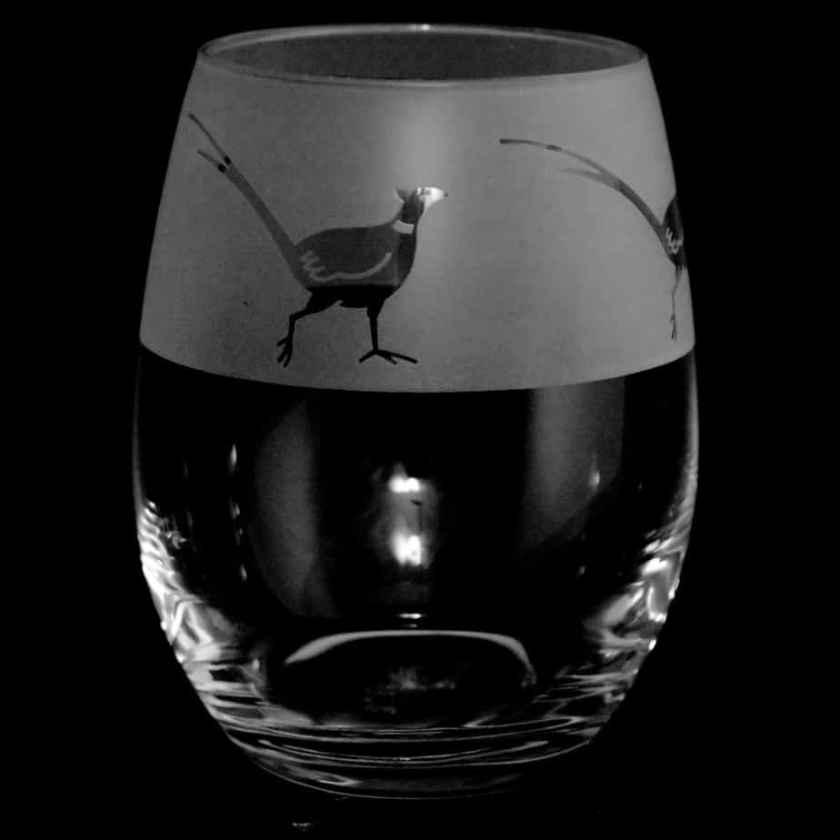 PHEASANT Stemless Wine / Water Glass 36cl