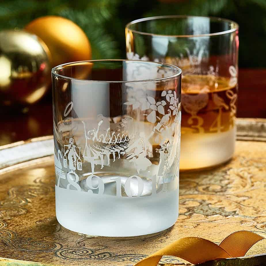 12 DAYS OF CHRISTMAS Whisky Tumbler